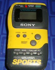 Sony Sport Walkman SRF-M70  FM/AM  Stereo Radio Clip On 10 Digital Presets