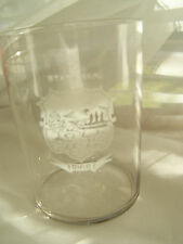 VINTAGE  STATE SEAL OF OHIO, ETCHED DRINKING GLASS, VERY PRETTY,EXC. COND.