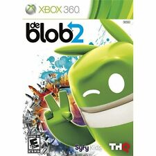 De Blob 2 Xbox 360 COMPLETE CIB Has game, manual, and case with artwork Tested