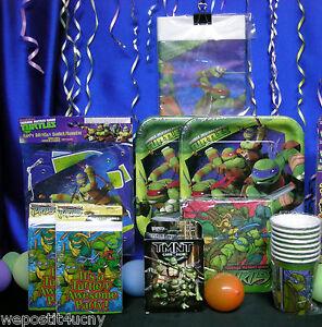Teenage Mutant Ninja Turtle Party Set # 13 Plates Napkin Invites Banner
