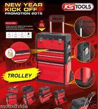 KS TOOLS  Werkstattwagen fahrbarer Werkzeugkasten /3tlg.  KST Blech - Trolley