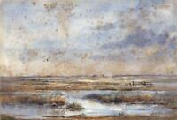 LAURA ANNIE HAPPERFIELD Watercolour Painting CLEY NEXT THE SEA NORFOLK
