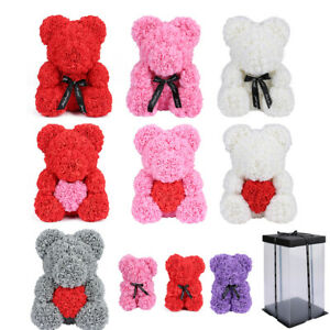 25/40cm Foam Rose Bear Gift Valentine Birthday Wedding Mother's Day Flower Teddy