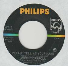 RONNIE CARROLL 45 PLEASE TELL ME YOUR NAME B/W SAY WONDERFUL THINGS VG+ TEEN