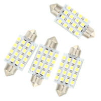 4 Stueck 42mm 16 SMD LED Weiss Auto Haube Girlande Innengluehlampe_x000D__x000D_