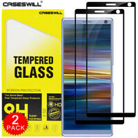 For Sony Xperia 5 / 1 / 10 / 10 Plus FULL COVER Tempered Glass Screen Protector