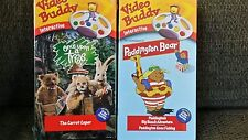 2 NEW VHS Video Buddy Interactive Learning Paddington Bear & Once Upon a Tree