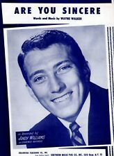 Sheet Music & Lyrics - Andy williams - Are you Sincere