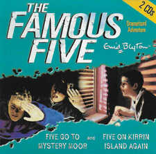 Enid Blyton FAMOUS FIVE Go To Mystery Moor & On Kirrin Island Again CD Audio