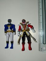 Samurai Red & Megaforce Blue Power Rangers : MMPR Vintage Action Figure Bandai