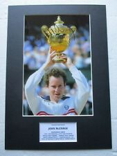 John McEnroe Tennis Legend Authentic Hand Signed A3 Mounted Photo Display - Coa