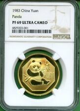 PANDA    1983   1 YUAN   BRASS  CHINA  NGC PF 69 ULTRA CAMEO   20,000 MINTED