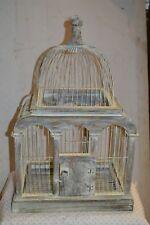 cage a oiseaux en fer et bois (gros modèle )