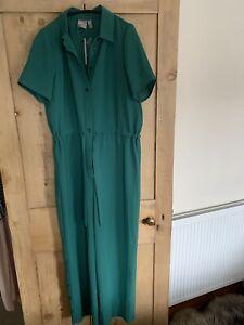 Ladies ASOS Green Jumpsuit Size UK 10