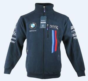 BMW Motorsport Mens Official Racing Blue Fleece Full Zip Jacket