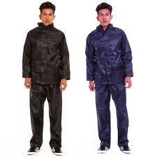 Mens Outdoor Rain Suit Jacket & Trouser Waterproof Windproof Lightweight Fishing