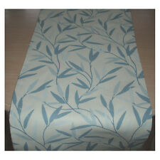 "Nouveau 84"" Table Runner 210 cm LAURA ASHLEY willow leaf Seaspray Bleu Feuilles 7 ft (environ 2.13 m)"