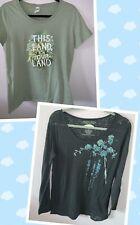 2 EARTH YOGA & Royal Apparel Organic Cotton XXL 2X Green Floral Tee Tshirts