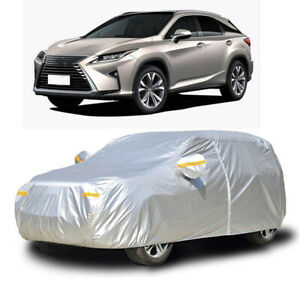 Waterproof Full Car Cover Snow Dust UV Protection w/Zipper For Lexus RX 300 450