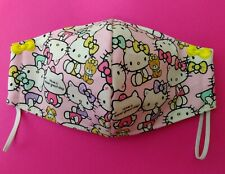 Hello Kitty Face Mask Adult Size with 3-Layers Filter Pocket Option Multi Kitty