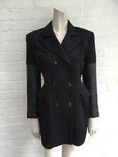 Amazing Rare John Richmond 90's Blazer Jacket Dress Leather Sleeves Size Small