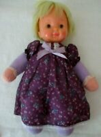 """1978 SNUGGLES Pull string 14"""" Baby doll head turns~ plush body~Ideal Toy Corp."""