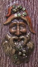 Garden Accent Tree Face Old Man Wall Fence Shed NEW wood toned polyresin #2