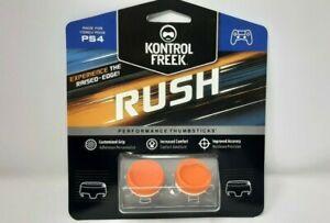 New KontrolFreek RUSH - ORANGE - PS4 - Sealed - Performance Thumbsticks
