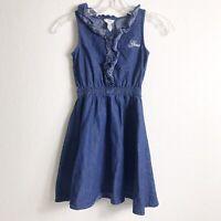 GUESS Jeans Blue Denim Jean Dress Sleeveless Girls Size 7