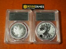 2019 W SILVER EAGLE PCGS PR70 70 PRIDE OF TWO NATIONS SET FS SILVER FOIL LABELS