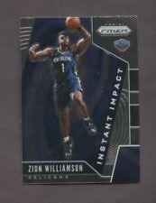 2019-20 Panini Prizm Instant Impact #2 Zion Williamson Pelicans RC Rookie