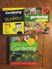 Gardening Books Lot of 3 CLEAN (Better Homes, Reader's Digest, and For Dummies)