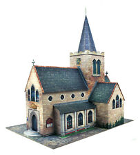 O gauge (7mm) 1:43 scale Model Railway Trains Building CHURCH Kit CityBuilder