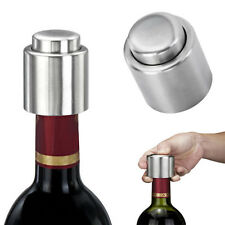 Reusable Stainless Steel Vacuum Sealed Champagne Red Wine Bottle Stopper-Kit