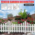 12pcs Garden Plastic Fence Lawn Edging Border Panel Edge Fencing Yard Outdoor US