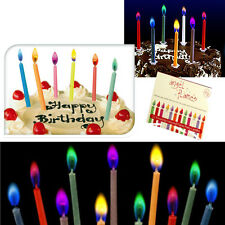 Happy Birthday Candles Coloured Cake Candles Flames Celebration Birthday Cupcake