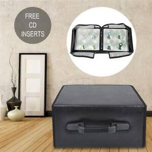 400 Discs CD DVD Binder Wallet Media Storage Carrying Case Anti Dust Black Black