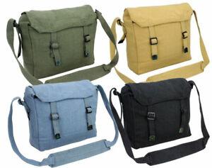 Vintage Army Messenger Style Retro Webbing Canvas Satchel Shoulder Bag Haversack
