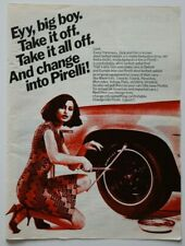 PIRELLI Tires 1973 magazine advert - English - USA