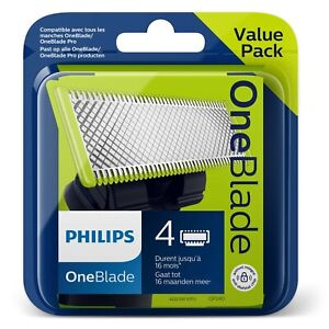 4 LAMES Philips One Blade OneBlade Pro recharge QP240/50 Value pack XL