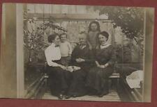 Edwardian old lady & family children in conservatory  RP pc qp426