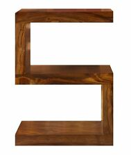 Cube Petite Solid Indian Rosewood S Shaped Display Unit / Quirky Table