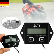 LCD Digital Drehzahlmesser ATV Tachometer für Motorräder Kettensäge 2/4-Takt DE