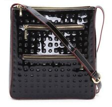 Arcadia Made In Italy Patent Leather Crossbody in Black NWT