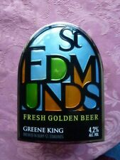 "GREENE KING BREWERY "" ST. EDMUNDS  "" SOLID PLASTIC  PUMP CLIP   ( BLUE T 5 )"