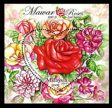 Malaysia 2014 MNH SS, Odd, Unusual love Shape, Roses