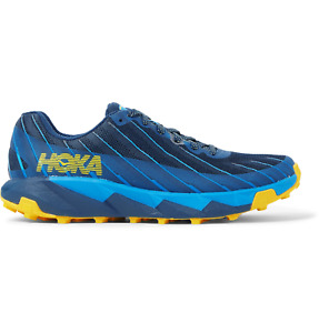 Hoka One One Torrent 1 Rubber-Trimmed Mesh Trail Running Sneakers US 8 UK 7