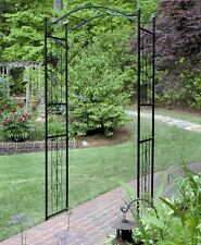 Metal Garden Arbor Arch Trellis Steel Yard Outdoor Patio Decor Weather Resistant