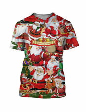 Polyester Christmas Slim Fit T-Shirts for Men
