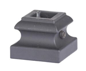 Flat Collar For 12mm Square Spindles Satin Black